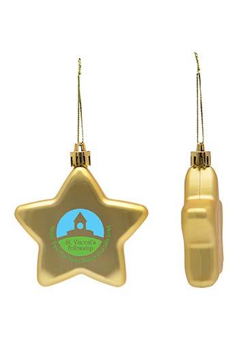 Shatter Resistant Flat Star Ornaments | IL1792