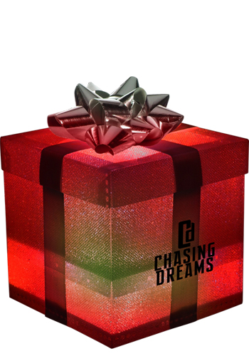 Silver LED Gift Boxes   WCGIF370