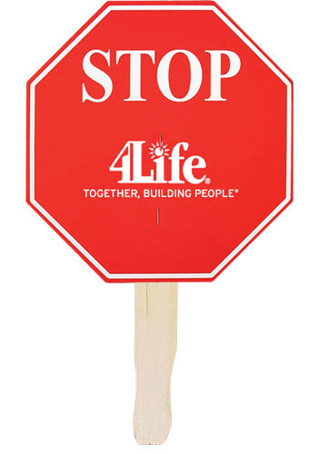 Stop Sign Shaped Hand Fans   AK33014