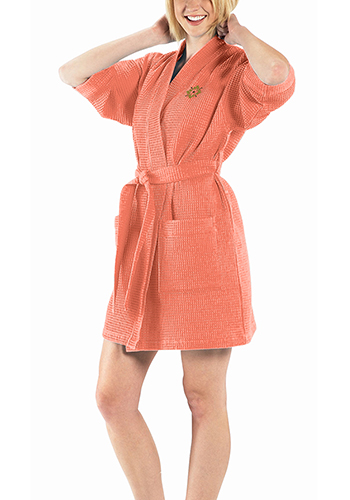 Custom Thigh Length Waffle Weave Kimono Robes - Colors