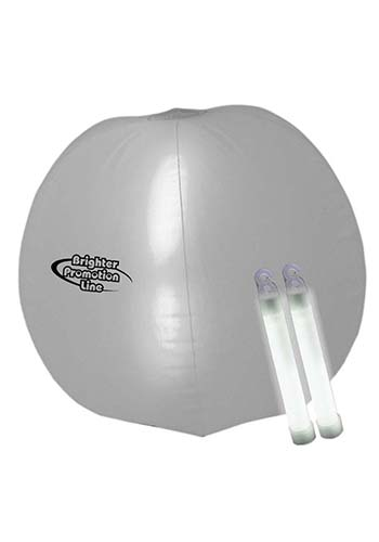 Translucent 24 in. Inflatable Beach Ball with Glow light Sticks   WCGNO11