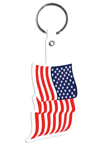 U.S. Flag Flexible Key Tags | EM563