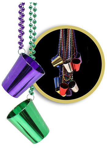 Shot Glass Beaded Necklace