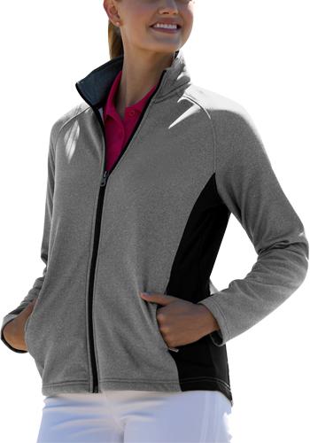 Wholesale Womens Vansport Heathered Blocked Knit Jackets
