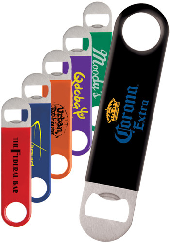 Color Wrapped Classic Paddle Bottle Openers   IL849