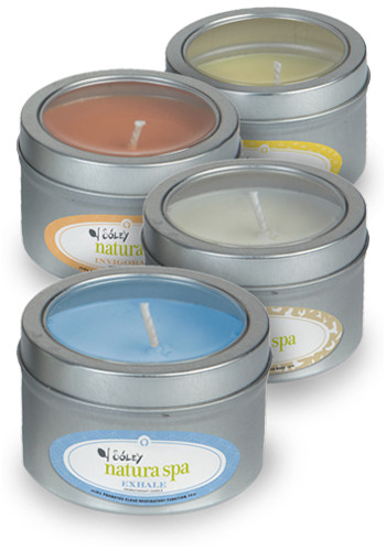 Custom Aromatherapy Candles in Small Window Tin