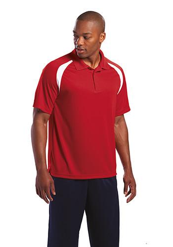 #T476 Printed Sport-Tek Dry Zone Colorblock Raglan Polo Shirts