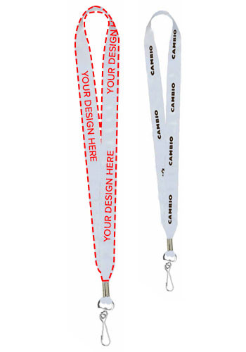 "Custom 1"" Super Soft Polyester Multi-Color Sublimation Lanyards"