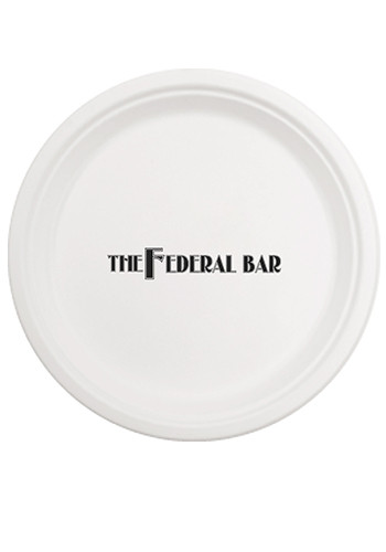 10 Inch Round Compostable Paper Plates | TSCPC10
