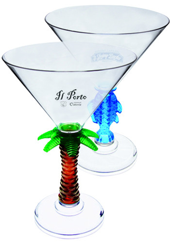 Bulk 10 oz. Novelty Stem Plastic Martini Glasses