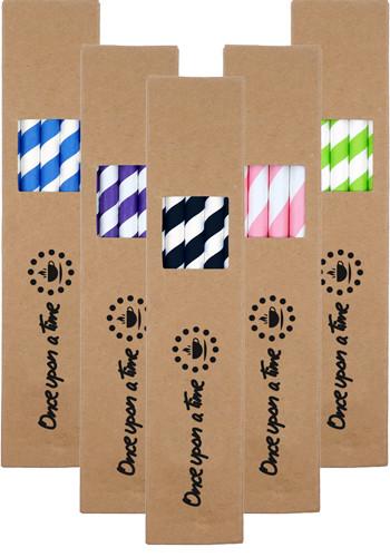 10 Pack Biodegradable Paper Straws In Paper Box | TKSTRAW102