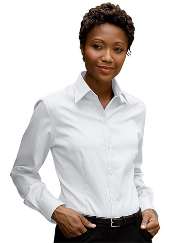 Womens Eagle No-Iron Pinpoint Oxford Dress Shirts | 1841