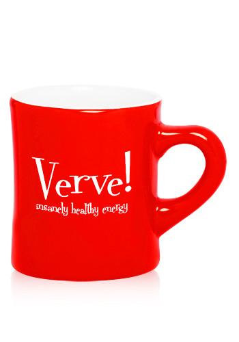 Red Ceramic Diner Mugs