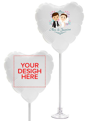 Wholesale 11 Inch Heart Balloons with Suction Base