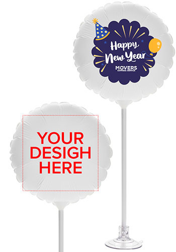Personalized 11 Inch Round Balloons with Suction Base