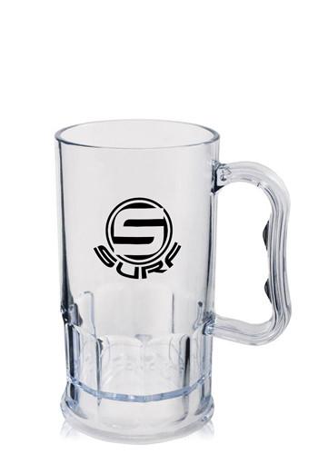 11 oz. Clear Plastic Beer Mugs   HWMG11