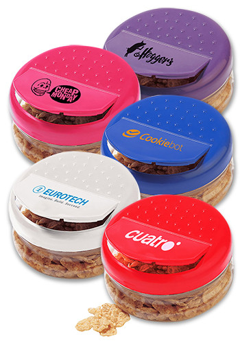 Promotional 11 oz. Snap-A-Snack Containers