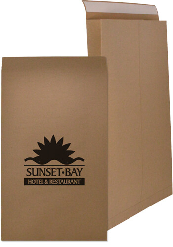 Customized 12.5 x 4 x 20 Inch Natural Kraft Mailers