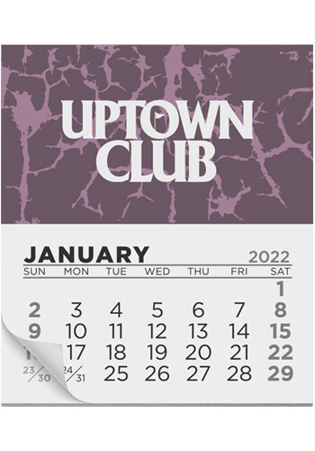 Promotional 12 Month Calendar Magnets