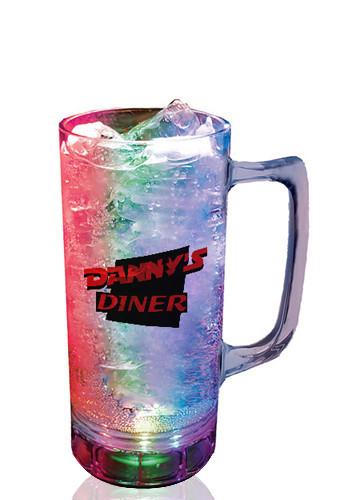 Plastic 3-Light Custom Beer Mugs