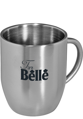 12 Oz. Double Wall Stainless Steel Coffee Mugs | PL2350