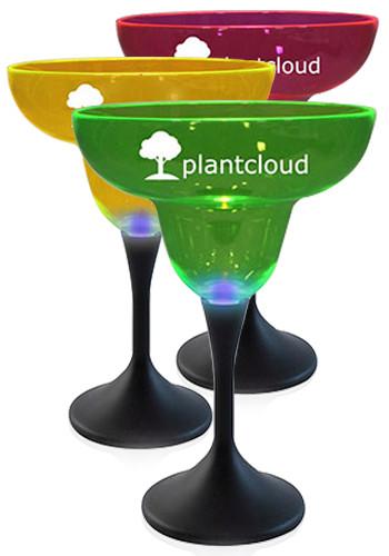 Customized 12 oz. Neon Style LED Margarita Glasses