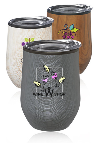12 oz. Palmera Stemless Wine Glasses with Lid | SW47F