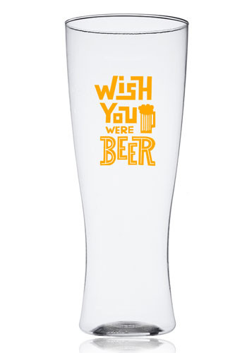 Custom 12 oz. Reserv Plastic Pilsner Glasses