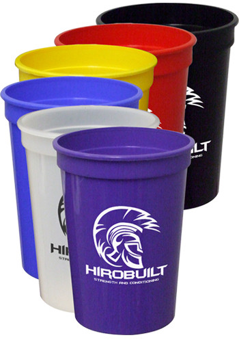 Custom 12 oz. Smooth Colored Stadium Cups