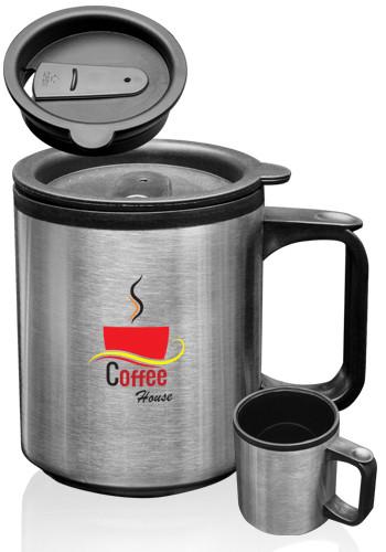 Custom 12 oz Stainless Steel Travel Mugs