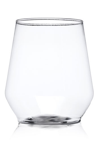 Custom 12 oz. Stemless Plastic Wine Glasses