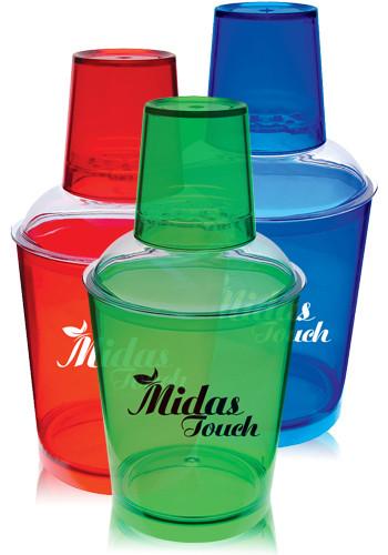 Promotional 12 oz. Translucent Plastic Martini Shakers