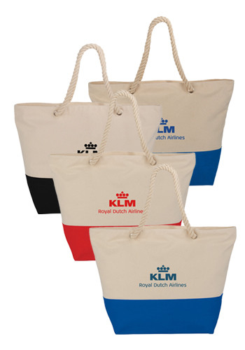 12 oz. Zippered Cotton Rope Totes | SM7066