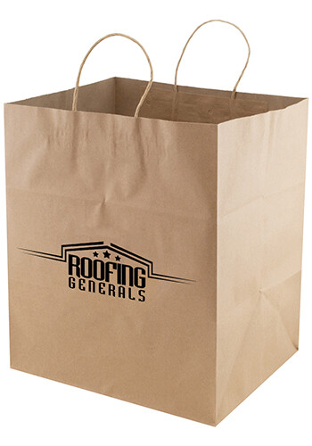 Promotional 12 x 14 Jumbo Gusset Takeout Bags