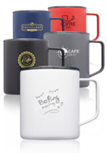 Personalized 13.5 oz. Kenai Powder Coated Travel Mugs