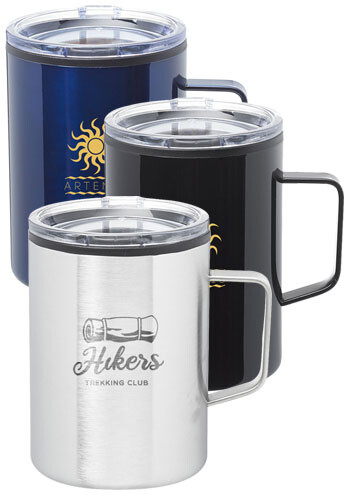 Personalized 13.5 oz. Wells Stainless Steel Camper Mug