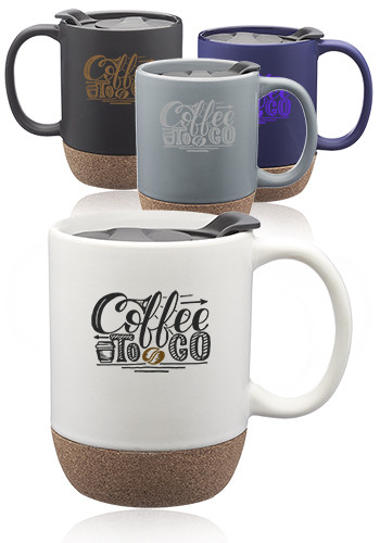 13 oz. Barista Ceramic Custom Mugs with Cork Bottom    CM1022