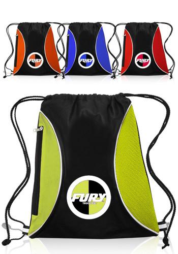 Personalized Zipper Side Drawstring Backpacks