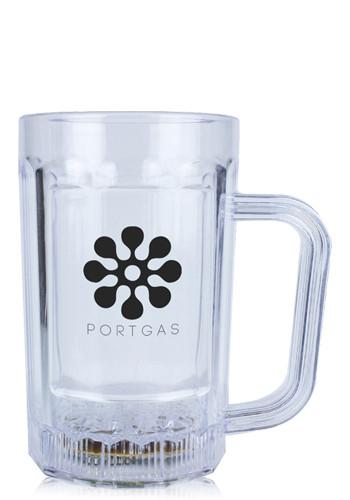 14 oz. Plastic LED Beer Mugs   WCLIT892