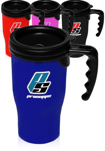 Custom 14 oz. Insulated Plastic Travel Mugs