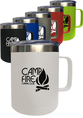 Custom 14 oz Stainless Steel Camping Mug