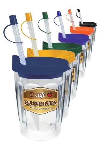Promotional 14 oz Thermal Decal Travel Tumblers
