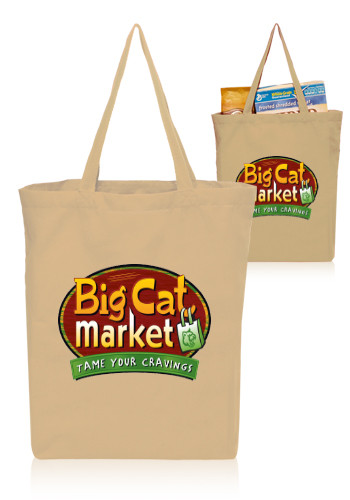 Custom 14W x 16H inch Gusseted Cotton Tote Bags