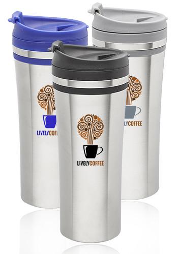 Bulk 15 oz.  Mia Insulated Stainless Steel Travel Mugs