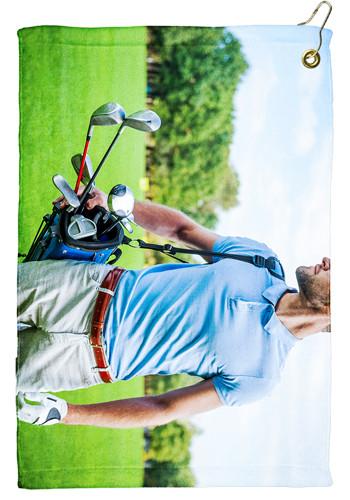 15 x 22 Microfiber Velour Golf Towels | TEGP1506CL