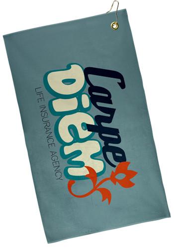 15 x 25 Subli-Plush Microfiber Velour Golf Towels | TEGP1528CL