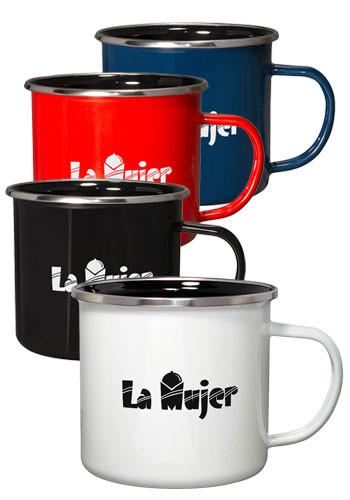 16.9 oz Iron and Stainless Log Cabin Mugs | PLMG691