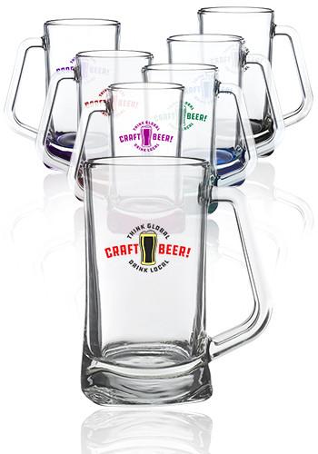 Custom 16 oz. Atenas Glass Beer Mugs