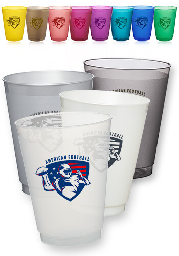 Frosted Plastic Stadium Cups