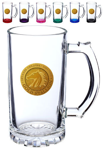 Glass Pint Beer Steins